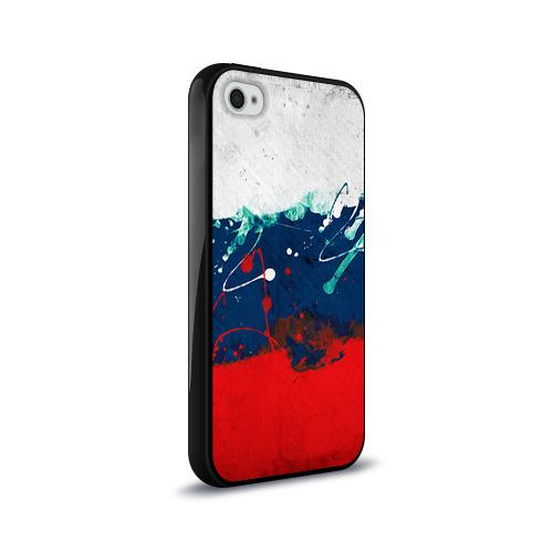 Чехол для Apple iPhone 4/4S силиконовый глянцевый  Фото 02, Флаг