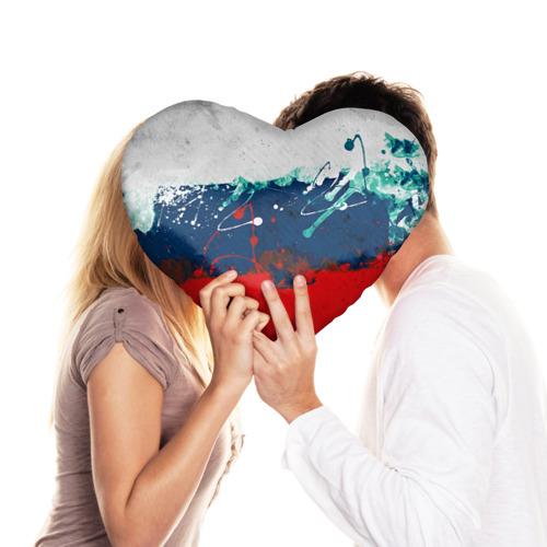 Подушка 3D сердце  Фото 03, Флаг