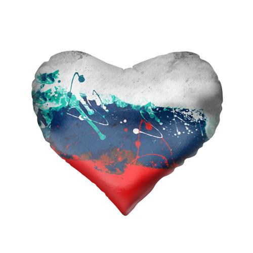 Подушка 3D сердце  Фото 02, Флаг