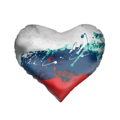 Подушка 3D сердце  Фото 01, Флаг