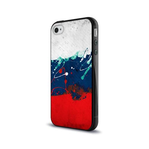 Чехол для Apple iPhone 4/4S силиконовый глянцевый  Фото 03, Флаг