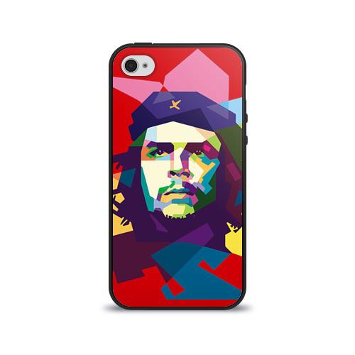 Чехол для Apple iPhone 4/4S силиконовый глянцевый Че Гевара от Всемайки