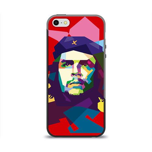 Чехол для Apple iPhone 5/5S силиконовый глянцевый Че Гевара