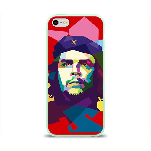 """Чехол силиконовый глянцевый для Apple iPhone 5S """"Че Гевара"""" - 1"""