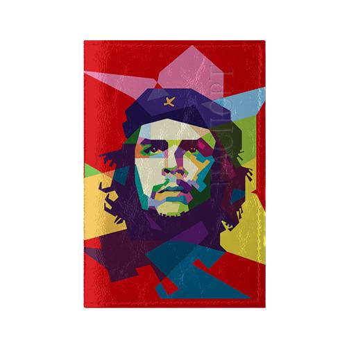 Обложка для паспорта глянцевая кожа Че Гевара