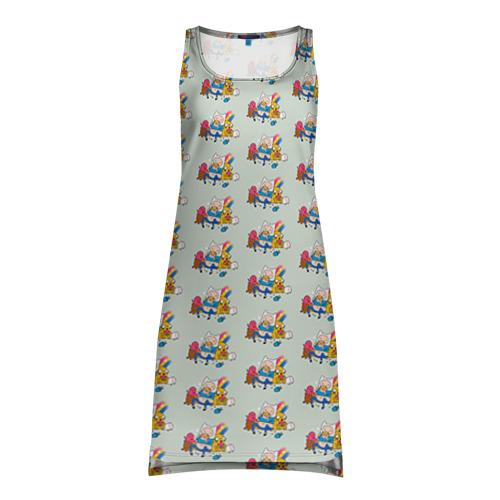 Платье-майка 3D Финн и Джейк