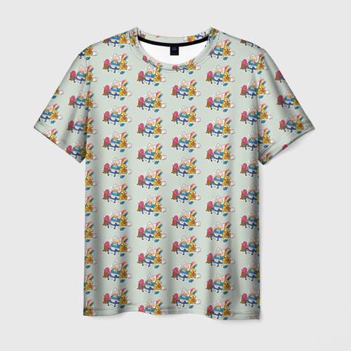 Мужская футболка 3D Финн и Джейк
