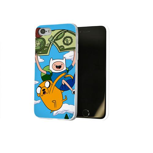 Чехол для Apple iPhone 8 силиконовый глянцевый  Фото 02, Парашют