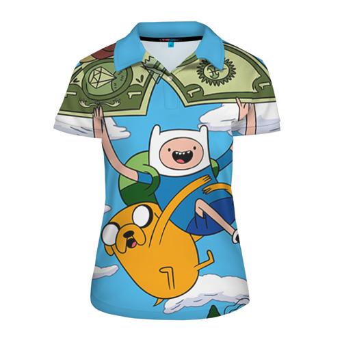 Женская рубашка поло 3D Парашют