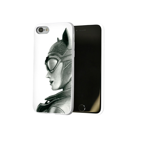 Чехол для Apple iPhone 8 силиконовый глянцевый  Фото 02, Catwoman