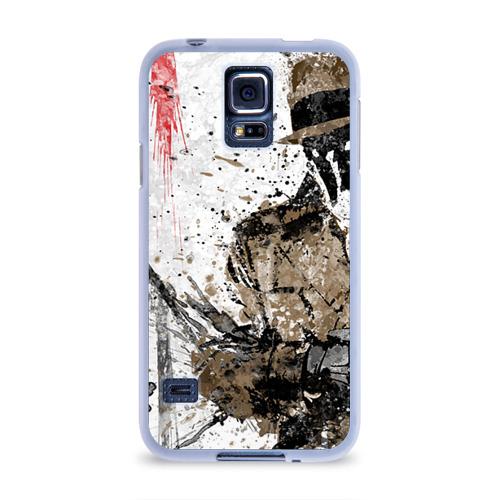 Чехол для Samsung Galaxy S5 силиконовый  Фото 01, Роршах