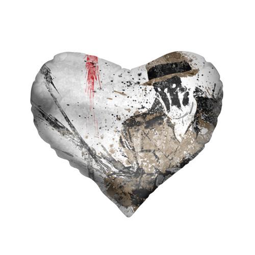 Подушка 3D сердце Роршах
