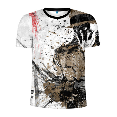 Мужская футболка 3D спортивная Роршах