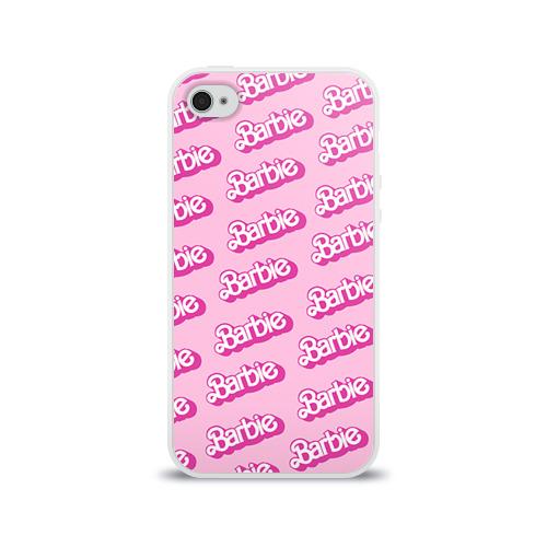 Чехол для Apple iPhone 4/4S силиконовый глянцевый  Фото 01, Barbie