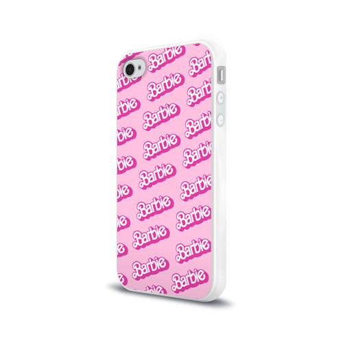 Чехол для Apple iPhone 4/4S силиконовый глянцевый  Фото 03, Barbie