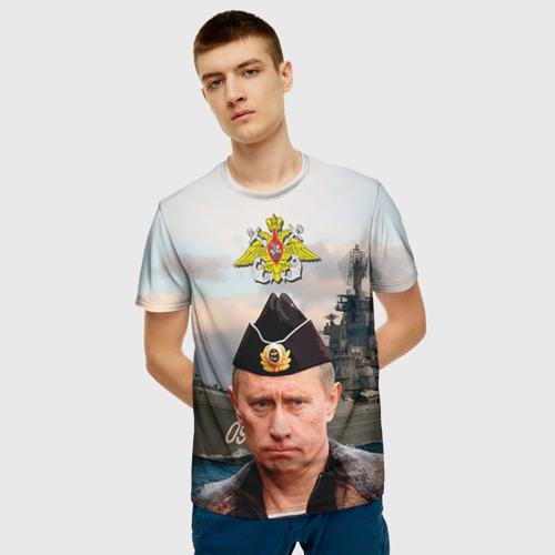 Мужская футболка 3D ВМФ Фото 01