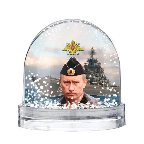 Водяной шар со снегом ВМФ