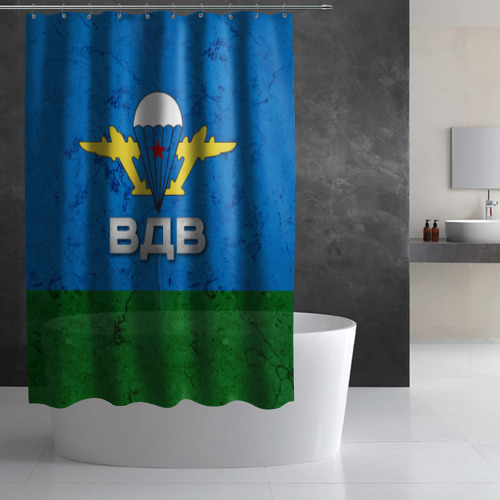 Штора 3D для ванной  Фото 03, ВДВ