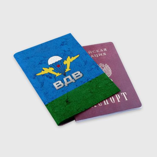Обложка для паспорта матовая кожа ВДВ Фото 01