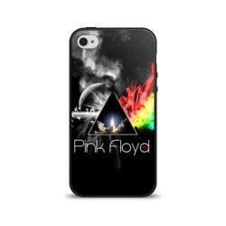 Чехол для Apple iPhone 4/4S силиконовый глянцевыйPink Floyd