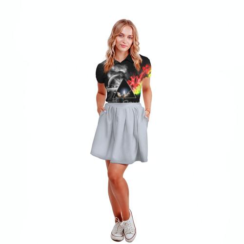 Женская рубашка поло 3D  Фото 04, Pink Floyd