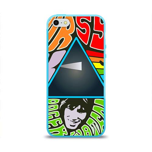 Чехол для Apple iPhone 5/5S силиконовый глянцевый  Фото 01, Pink Floyd