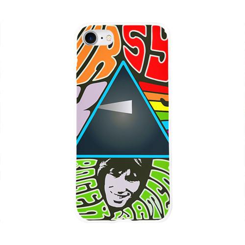 Чехол для Apple iPhone 8 силиконовый глянцевый  Фото 01, Pink Floyd
