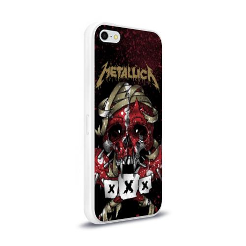Чехол для Apple iPhone 5/5S силиконовый глянцевый  Фото 02, Metallica