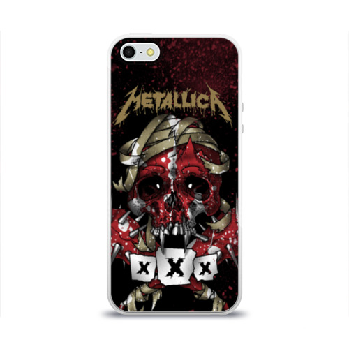 Чехол для Apple iPhone 5/5S силиконовый глянцевый  Фото 01, Metallica