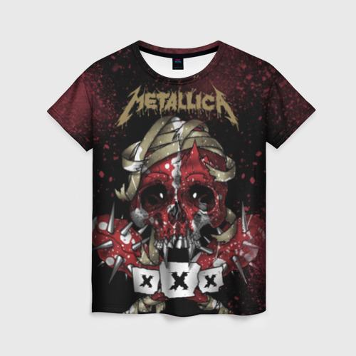 """Женская футболка 3D с полной запечаткой """"Metallica"""" (2) - 1"""