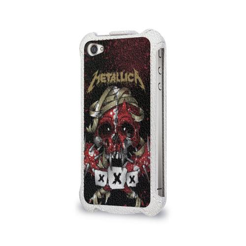 Чехол для Apple iPhone 4/4S flip  Фото 03, Metallica