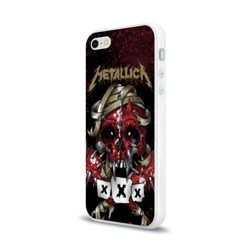 Чехол для Apple iPhone 5/5S силиконовый глянцевый  Фото 03, Metallica