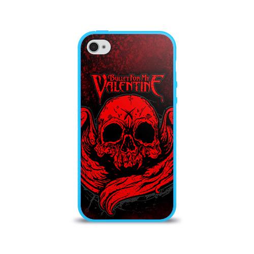 """Чехол силиконовый глянцевый для Apple iPhone 4 S """"Bullet for my valentine"""" (2) - 1"""