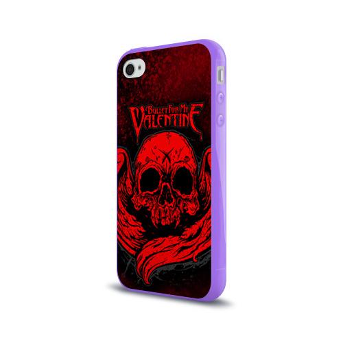 Чехол для Apple iPhone 4/4S силиконовый глянцевый  Фото 03, Bullet for my valentine