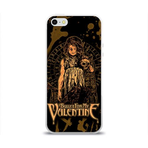 Чехол для Apple iPhone 5/5S силиконовый глянцевый  Фото 01, Bullet for my valentine