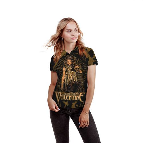 Женская рубашка поло 3D  Фото 03, Bullet for my valentine
