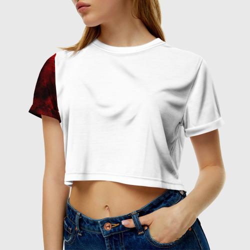 Женская футболка 3D укороченная Bullet for my valentine