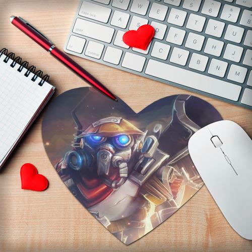 Коврик для мыши сердце  Фото 02, Clockwerk