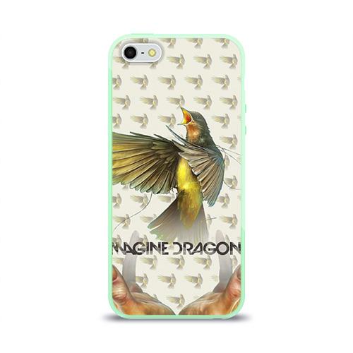"""Чехол силиконовый глянцевый для Apple iPhone 5S """"Imagine Dragons"""" (4) - 1"""