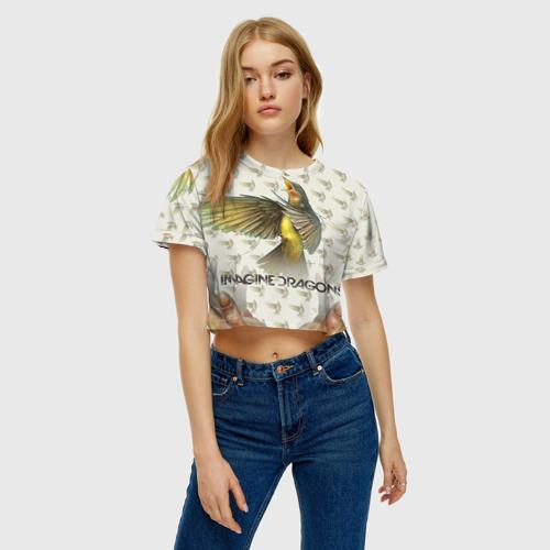 Женская футболка 3D укороченная  Фото 04, Imagine Dragons