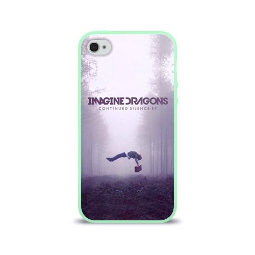 """Чехол силиконовый глянцевый для Apple iPhone 4S """"Imagine Dragons"""" (2) - 1"""