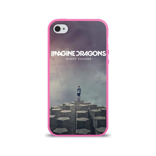 """Чехол силиконовый глянцевый для Apple iPhone 4 """"Imagine Dragons"""" - 1"""