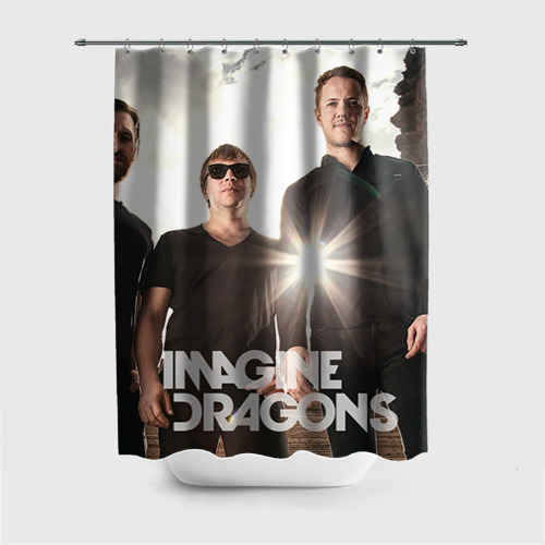 Штора 3D для ванной  Фото 01, Imagine Dragons