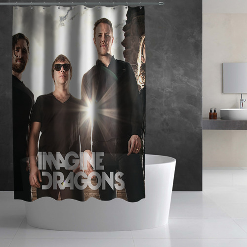 Штора 3D для ванной  Фото 03, Imagine Dragons