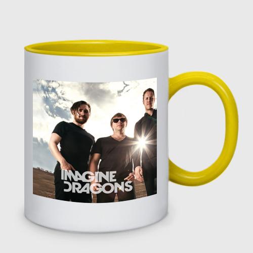 Кружка двухцветная  Фото 02, Imagine Dragons
