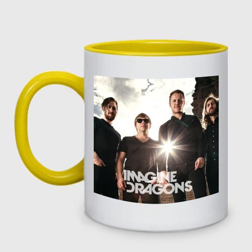 Кружка двухцветная  Фото 01, Imagine Dragons