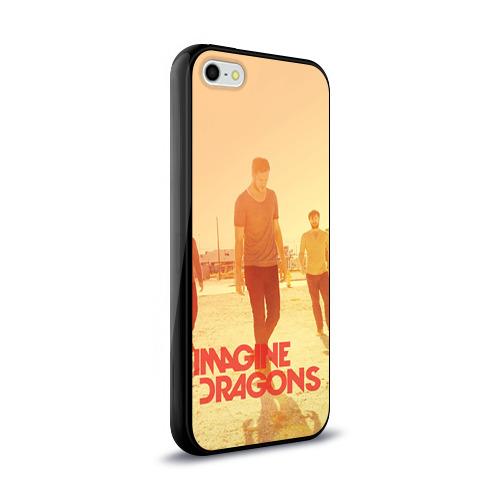 Чехол для Apple iPhone 5/5S силиконовый глянцевый  Фото 02, Imagine Dragons