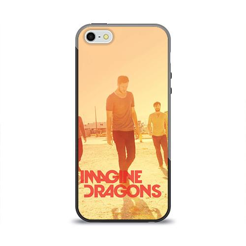 Чехол силиконовый глянцевый для Телефон Apple iPhone 5/5S Imagine Dragons от Всемайки