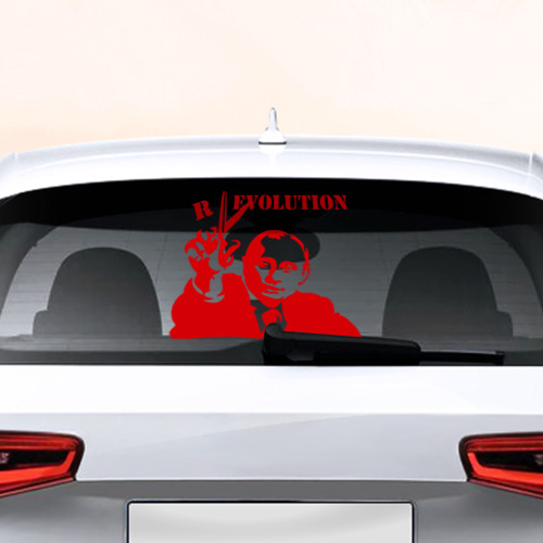 Наклейка на авто - для заднего стекла Путин