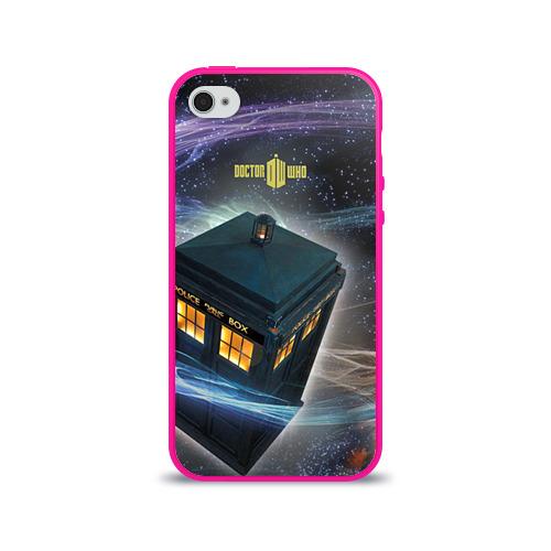 """Чехол силиконовый глянцевый для Apple iPhone 4S """"Тардис"""" (2) - 1"""